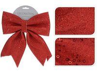 купить Бант декоративный 23X29сm, красный с блетсками в Кишинёве