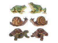 Черепаха/лягушка/улитка декоративные H10cm, 12.5X6cm