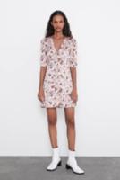 Платье ZARA Розовый в цветочек 7901/227/620