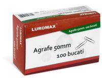 Luromax Скрепки LUROMAX округлые, 50 мм, 100 штук