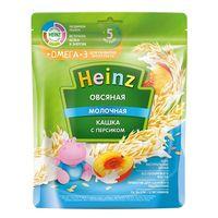 Heinz каша овсяная молочная c персиком Omega 3, 5+меc. 200г