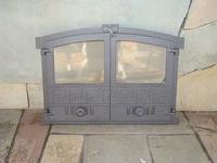 Дверца чугунная со стеклом двустворчатая GREECE 3