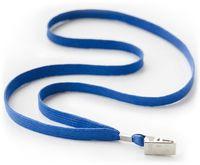 Luromax Шнурок с клипсой LUROMAX для бейджа синий