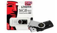 USB Flash Drive 16GB Kingston DT-101 Gen2, black USB2.0