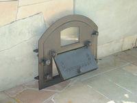 Дверца чугунная со стеклом правая PIZZA 4