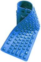 Gembird KB-109FEL1-BL-US, Backlight flexible keyboard, blue