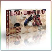 Шахматы — Шашки — Нарды 3 в 1 в коробке