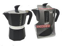 Кофеварка на 3 чашки Pedrini, алюминевая антрацит
