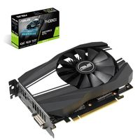"""VGA ASUS GTX1660Ti 6GB GDDR6 Phoenix OC //  GeForce® GTX 1660 Ti, 6GB GDDR6, 192 bit, Engine 1530/1815MHz (OC Mode), Memory 12002MHz, Active Cooling, DVI-D *1, DisplayPort 1.4 *1, HDMI 2.0b *2, Power 8 Pin*1"""