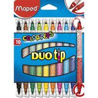 MAPED Фломастер MAPED Duo Tip, 10 цветов