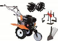 Набор мотоблок TECHNOWORKER HB 705.3.3.1.1 N + плуг картофель + металлические колеса 4*8 + мотыга