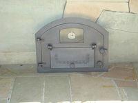 Дверца чугунная со стеклом левая с термометром PIZZA 3Т