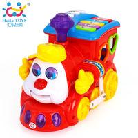 Huile Toys Поезд с музыкой и светом