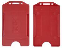 MAPI Бейдж вертикальный MAPI 55x90мм пластик красный