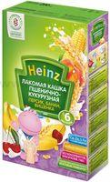 Heinz Лакомая кашка пшенично-кукурузная персик, банан, вишенка (6m+)