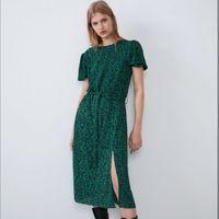 Rochie ZARA Verde cu imprimeu 1165/915/500