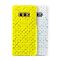 Чехол Samsung Galaxy S10e (EF-XG970) Pattern Cover White&Yellow (2buc)
