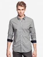 Рубашка TOM TAILOR Черно-белый в клетку 1015484 19189
