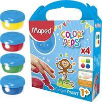 MAPED Краски гуашевые MAPED/4x80 мл пальчиковые