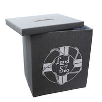 купить Коробка с морской тематикой 410x310x490 мм, серый в Кишинёве