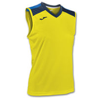 VOLLEY SHIRT YELLOW-NAVY SLEEVELESS W.