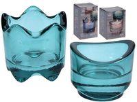 купить Набор подсвечников стекляных 2 шт D6cm, H5cm, 3 цвета в Кишинёве