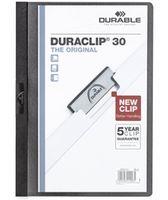 Durable Папка с клипом DURACLIP 30 A4 пластиковая черная