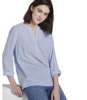 Блуза TOM TAILOR Голубой/Белый