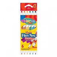 Carioci Fibre Pens 6 buc. 4 мм/0.7мм Colorino