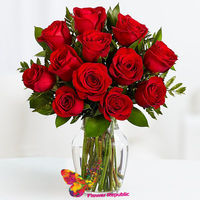 cumpără Buchet de 11 Trandafiri rosi in vasa în Chișinău