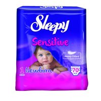 Подгузники Sleepy Sensitive 1 Jumbo New Born