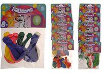Набор шаров воздушных 8шт, разные цвета