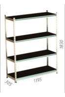 купить Стеллаж металлический Gama Box 1195Wx305Dx1830H мм, 4 полок/0164PE антрацит в Кишинёве