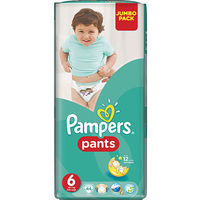 Pampers chiloței Unisex 6, 16+ kg, 44 buc.