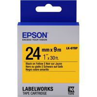 C53S656005 Tape Epson LK6YBP Pastel Blk/Yell 24/9