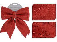 купить Бант декоративный 28X34сm, красный с блетсками в Кишинёве