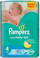 Pampers Active Baby Maxi 4 (7-14 кг.) 76 шт.