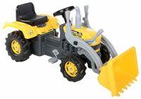 Экскаватор педальный с прицепом, желто черный, код 42462