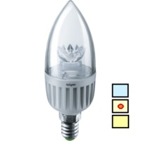 (S) LED (7Wt) NLL-C37-7-230-4K-E14-CL