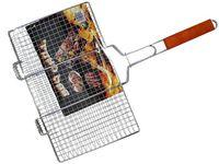 Решетка для гриля BBQ 25X42cm, с деревянной ручкой