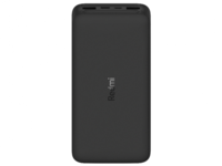 20000mAh Xiaomi Redmi Power Bank 18W Fast Charge QC3.0, 2xUSB, Black