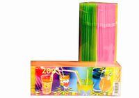 Набор соломок для коктейля со сгибом 200шт, одноцветные
