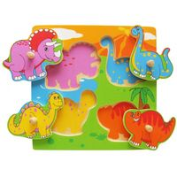 Wooden Flat Puzzle - Dinosaurs