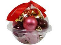 купить Набор шаров 12X30mm, 3 дизайна, с лентой, пурпурных в Кишинёве