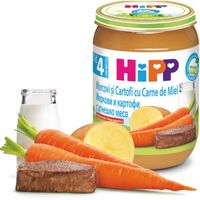 Hipp пюре морковь, картофель и ягненок, 6+мес. 190г