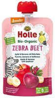 Piure de mere, banane și sfeclă Holle Bio Organic Zebra Beet (6 luni+), 100g