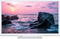 """24"""" LED TV Toshiba 24W1754DG, White (1366x768 HD Ready, 100 Hz, DVB-T2/T/C) (24"""", 60 cm, White, HD Ready, 100Hz, 2 HDMI, 1 USB  (foto, audio, video, USB recording), DVB-T/T2/C, OSD Language: ENG, RU, RO, Speakers 2x4W, 2.8 kg, VESA 100x100)"""