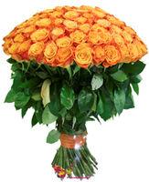 купить Большой букет из оранжевой розы 70-80СМ в Кишинёве