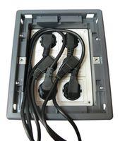 FB-4 Напольная коробка (люк) с корзиной для заливки в бетон, 6x220V French Socket (Floor Box 6x220V with Junction box)