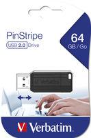 Flash Verbatim PinStripe Black 64GB